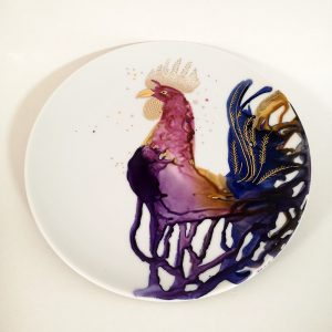 Illustration on porcelain